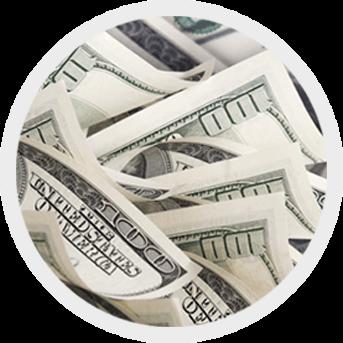 round image of dollars
