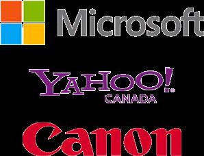 Microsoft, Yahoo!, Canon