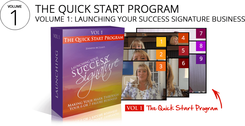Volume 1: Launching Your Success Signature Business Program - Online Video Coaching Program