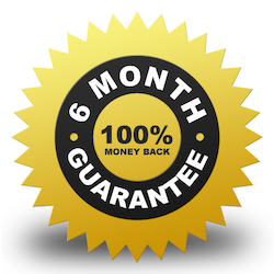 6 Month 100% Money Back Guarantee
